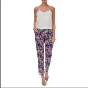 NWT Joie Marceline Floral Silk Trouser Pants Small